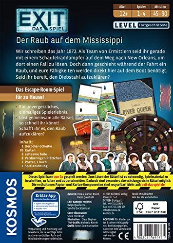 KOSMOS 691721 EXIT - Das Spiel - Der Raub auf dem Mississippi, Level: Fortgeschrittene, Escape Room Spiel - 2