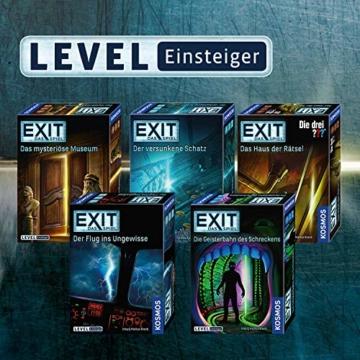 KOSMOS 691769 EXIT - Das Spiel - Der Flug ins Ungewisse, Level: Einsteiger, Escape Room Spiel - 4