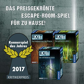 KOSMOS 692742 - EXIT - Das Spiel - Das geheime Labor, Kennerspiel des Jahres 2017, Level: Fortgeschrittene, Escape Room Spiel - 5