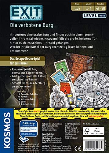 KOSMOS 692872 - EXIT - Das Spiel, Die verbotene Burg, Level: Profis, Escape Room Spiel, für 1 bis 4 Spieler ab 12 Jahren, einmaliges Event-Spiel für Erwachsene und Kinder - 2