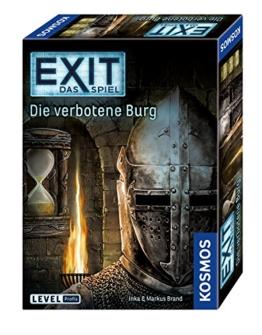 KOSMOS 692872 - EXIT - Das Spiel, Die verbotene Burg, Level: Profis, Escape Room Spiel, für 1 bis 4 Spieler ab 12 Jahren, einmaliges Event-Spiel für Erwachsene und Kinder - 1