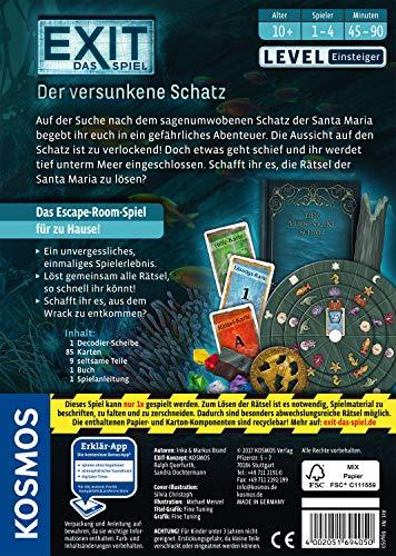 Kosmos 694050 - EXIT - Das Spiel - Der versunkene Schatz, Level: Einsteiger, Escape Room Spiel - 2