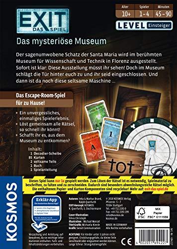 KOSMOS 694227 - EXIT - Das Spiel, Das mysteriöse Museum, Level: Einsteiger, Escape Room Spiel, für 1 bis 4 Spieler ab 10 Jahren, einmaliges Event-Spiel für Erwachsene und Kinder - 2