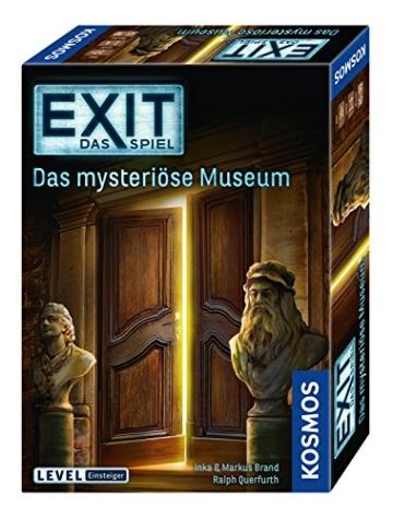 KOSMOS 694227 - EXIT - Das Spiel, Das mysteriöse Museum, Level: Einsteiger, Escape Room Spiel, für 1 bis 4 Spieler ab 10 Jahren, einmaliges Event-Spiel für Erwachsene und Kinder - 1