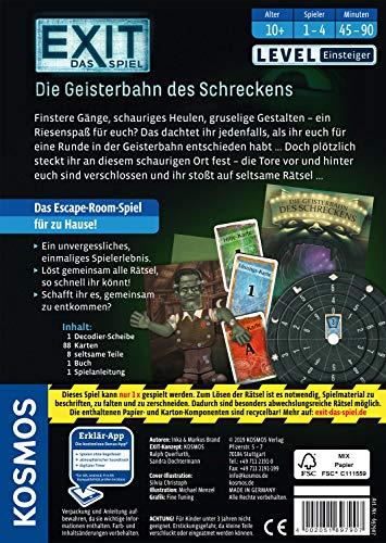 KOSMOS 697907 EXIT - Das Spiel - Die Geisterbahn des Schreckens, Level: Einsteiger, Escape Room Spiel - 2