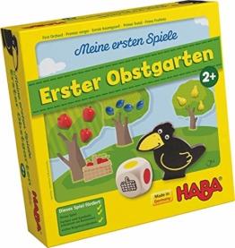 Haba 4655 - Meine ersten Spiele Erster Obstgarten, unterhaltsames Brettspiel rund um Farben und Formen ab 2 Jahren, Holzspielzeug und Lernspiel, der Spieleklassiker für kleine Kinder - 1