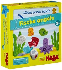 Haba 4983 - Meine ersten Spiele Fische angeln, spannendes Angelspiel mit bunten Holzfiguren, Lernspiel und Holzspielzeug ab 2 Jahren, Motorikspielzeug - 1