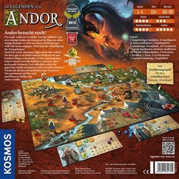 Kosmos 691745 - Die Legenden von Andor, Das Grundspiel, Kennerspiel des  Jahres 2013, kooperatives Fantasy-Brettspiel ab 10 Jahren - 2