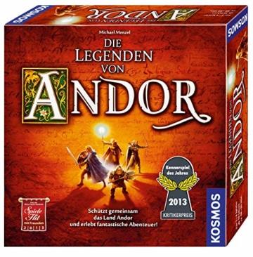 Kosmos 691745 - Die Legenden von Andor, Das Grundspiel, Kennerspiel des  Jahres 2013, kooperatives Fantasy-Brettspiel ab 10 Jahren - 1