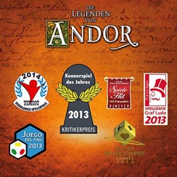 Kosmos 691745 - Die Legenden von Andor, Das Grundspiel, Kennerspiel des  Jahres 2013, kooperatives Fantasy-Brettspiel ab 10 Jahren - 9