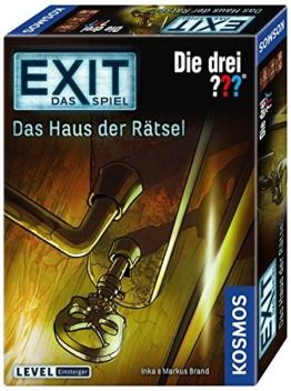 Kosmos 694043 - EXIT - Das Spiel - Das Haus der Rätsel - Die Drei??? Level: Einsteiger, Escape Room Spiel - 1