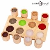 NEU! Montessori Spielzeug - Holzspielzeug zum Fühlen und Sortieren. Pädagogisches Lernspielzeug / Motorikspielzeug - 1 2 3 4 Jahre für Mädchen und Jungen - 1