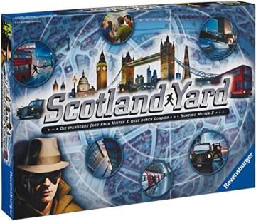 Ravensburger Familienspiele Scotland Yard, Detektiv-Spiel, Suchspiel, Kultspiel, Gesellschaftsspiel, Brettspiel, Familien Spiel, 26601 2 - 1