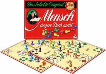 Schmidt Spiele 49020 Mensch ärgere Dich Nicht Jubiläumsausgabe, mit Figuren und Würfeln aus Holz, Laufspiel, bunt - 3