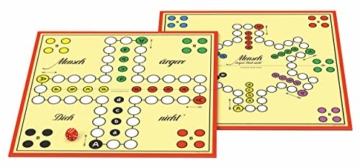 Schmidt Spiele 49020 Mensch ärgere Dich Nicht Jubiläumsausgabe, mit Figuren und Würfeln aus Holz, Laufspiel, bunt - 4