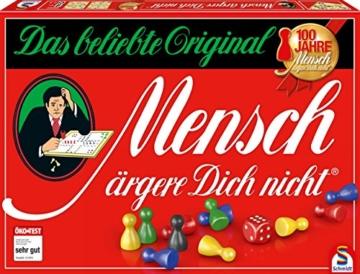 Schmidt Spiele 49020 Mensch ärgere Dich Nicht Jubiläumsausgabe, mit Figuren und Würfeln aus Holz, Laufspiel, bunt - 1