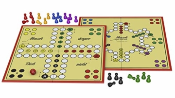 Schmidt Spiele 49020 Mensch ärgere Dich Nicht Jubiläumsausgabe, mit Figuren und Würfeln aus Holz, Laufspiel, bunt - 5