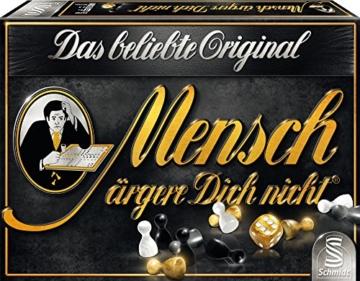 Schmidt Spiele 49290 Mensch ärgere Dich Nicht, Edition Schwarz, Familienspiel, bunt - 1