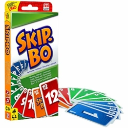 Mattel Games 52370 Skip-Bo Kartenspiel und Familienspiel geeignet für 2 - 6 Spieler, Spiel ab 7 Jahren - 1