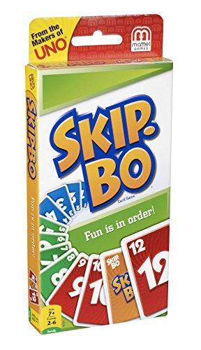 Mattel Games 52370 Skip-Bo Kartenspiel und Familienspiel geeignet für 2 - 6 Spieler, Spiel ab 7 Jahren - 5