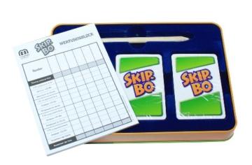 Mattel Games L3671 Skip-Bo Deluxe in Metalldose Kartenspiel, geeignet für 2 - 6 Spieler, Spieldauer ca. 30 Minuten, ab 7 Jahren - 2