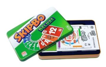 Mattel Games L3671 Skip-Bo Deluxe in Metalldose Kartenspiel, geeignet für 2 - 6 Spieler, Spieldauer ca. 30 Minuten, ab 7 Jahren - 4