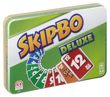 Mattel Games L3671 Skip-Bo Deluxe in Metalldose Kartenspiel, geeignet für 2 - 6 Spieler, Spieldauer ca. 30 Minuten, ab 7 Jahren - 5