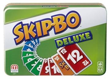 Mattel Games L3671 Skip-Bo Deluxe in Metalldose Kartenspiel, geeignet für 2 - 6 Spieler, Spieldauer ca. 30 Minuten, ab 7 Jahren - 6