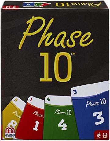 Mattel Spar-Set 169882 3-er Set Kartenspiele: UNO, Skip BO und Phase 10 - 3