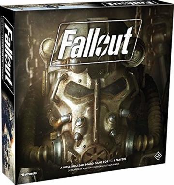 Fantasy Flight Games FFGD0161 Fallout: Das Brettspiel, Merhfarbig, Bunt - 1