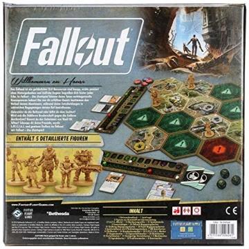 Fantasy Flight Games FFGD0161 Fallout: Das Brettspiel, Merhfarbig, Bunt - 2