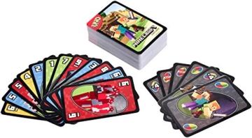 Mattel Uno Minecraft Card Game - 2