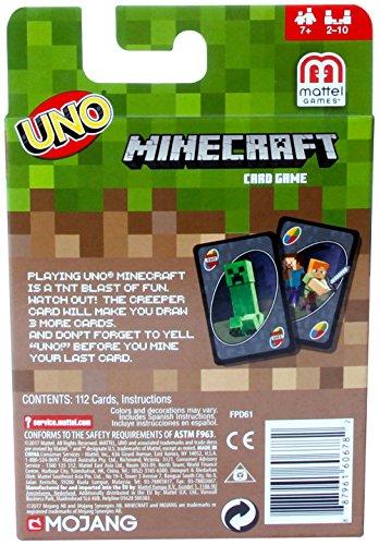 Mattel Uno Minecraft Card Game - 3