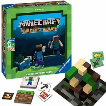 Ravensburger Spiele 26132 - Minecraft Builders & Biomes 26132 - Spannendes Brettspiel ab 10 Jahren - 2