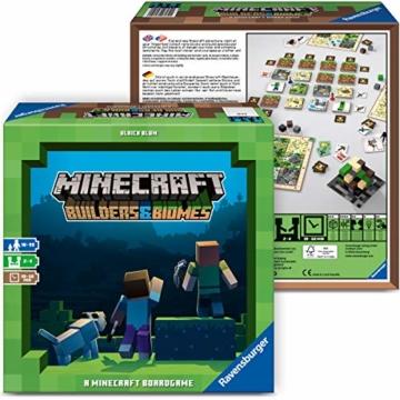 Ravensburger Spiele 26132 - Minecraft Builders & Biomes 26132 - Spannendes Brettspiel ab 10 Jahren - 5
