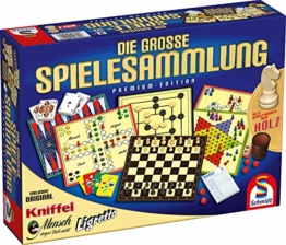 Schmidt Spiele 49125 Die Große Spielesammlung, alle Spielfiguren aus Holz, bunt - 1