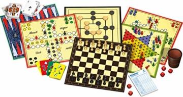 Schmidt Spiele 49125 Die Große Spielesammlung, alle Spielfiguren aus Holz, bunt - 2