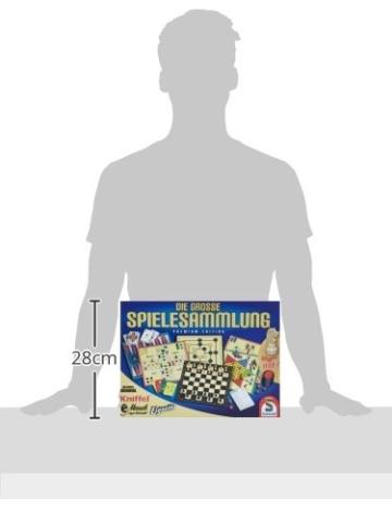 Schmidt Spiele 49125 Die Große Spielesammlung, alle Spielfiguren aus Holz, bunt - 3