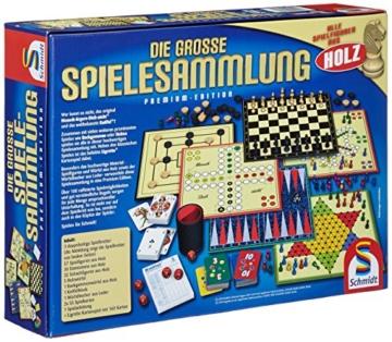 Schmidt Spiele 49125 Die Große Spielesammlung, alle Spielfiguren aus Holz, bunt - 4