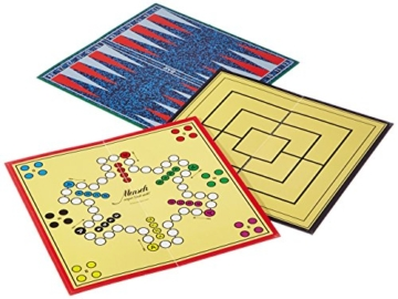 Schmidt Spiele 49125 Die Große Spielesammlung, alle Spielfiguren aus Holz, bunt - 5